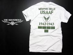 爆弾エアフォースTシャツ・白カーキーM・新品/米軍ミリタリー系