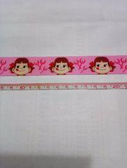 22mm巾 キャンディ柄ぺこちゃんリボン1M