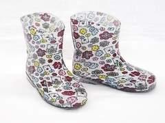 モンフレール レインブーツ 7008 14.0cm 花クマ 可愛い 長靴
