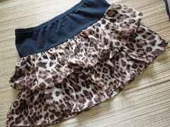 豹柄フレアーミニスカート M〜L