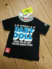 BABY DOLL*ベビードール☆ロゴプリント半袖Tシャツ80☆新品