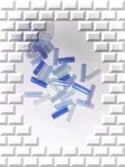 ≪はんぱモノ≫『ガラスビーズ』竹型[ブルー系3Mix]3g*6mm