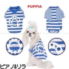 ※新品【PUPPIA】Tシャツ★BL★L★¥3980円