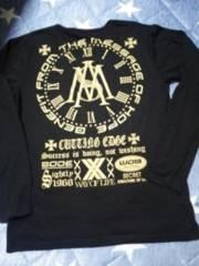 L/men's/襟Vゴールドロゴ長袖Tシャツ黒