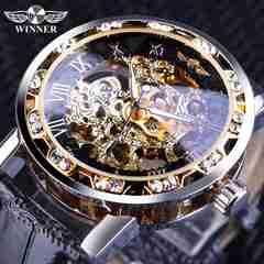 腕時計 ゴールド スケルトン 自動巻き