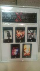 未使用 X JAPAN ステッカー&テレカ5種類セット!額縁付き! 送込
