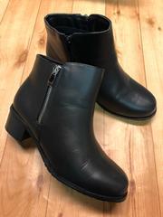 新品☆L24〜24.5�p4E黒ショートブーツ防水抗菌防臭☆s550