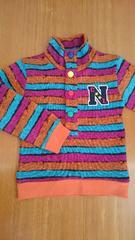 130サイズ 裏起毛 あったか おしゃれなセーター 新品