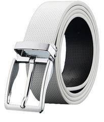 色白 サイズFree メンズ ベルト 革 ゴルフ ビジネス ベルト カジ