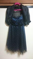 ドレス&ボレロset/結婚式/二次会/ネイビー/447
