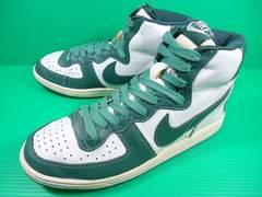 1528■ 08年製 ナイキターミネーターハイ ビンテージ 白×緑