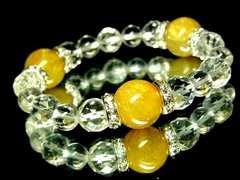 ルチルクォーツ金針水晶14ミリ§ダイヤカット水晶10ミリ§水晶8ミリ§銀ロンデル
