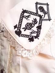 axes〓ローズ トランプ刺繍BL〓タグ付き〓キナリ〓Lサイズ