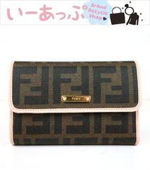 フェンディ 三つ折り財布 極美品 g298