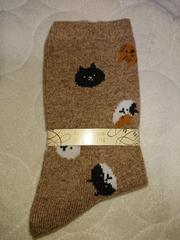 新品、靴下、くつ下、22�p〜25�p、猫、ネコ、動物