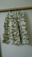無メーカー  迷彩柄スカート