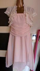 ☆ピンクの優しい色のドレスサイズ11AR横ファスナー*夜のお仕事