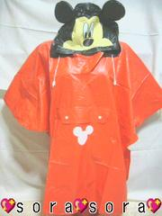 ディズニー【ミッキー】可愛い♪KIDS用!カッパ/レインコート