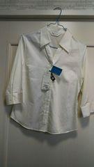 新品タグつきMアイアコットG.F七分袖スーツインナーシャツ白