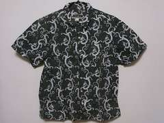 即決USA古着●OPオーシャンパシフィック総柄デザイン半袖シャツ!ヴィンテージ