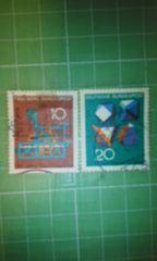 旧西ドイツ10・20切手♪