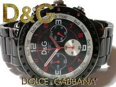 極レア 1スタ★ドルガバ/D&G【クロノグラフ】ゴツい大型腕時計