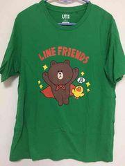 UNIQLO LINE ブラウン Tシャツ