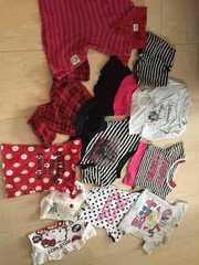 女の子服12点大量セット半袖ショーパンワンピ90〜95