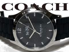美品 1スタ★COACH コーチ メンズ 大型 シグネ柄 腕時計