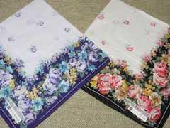 未使用☆pierre balmain*華やか花柄ハンカチ2色セット