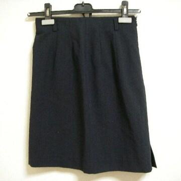 イタリア製 コムサデモード ~M 紺系 ストライプ スカート