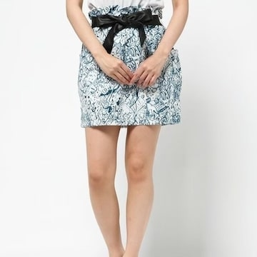 ◆PJ/ピーチジョン◆新品!!JARINKOダイナープリントスカート★ホワイトM♪