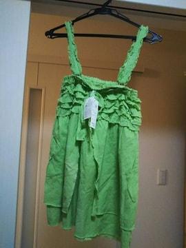 新品タグ付きM ★スカート兼キャミソールチュニック2wayコットン