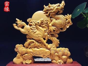 龍馬精神 木彫り 彫刻 風水 インテリア