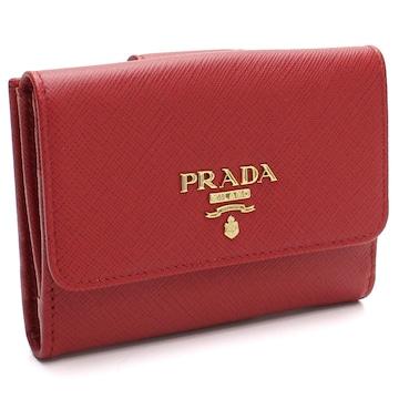 PRADA Wホック財布 1MH523 QWA F068Z FUOCO