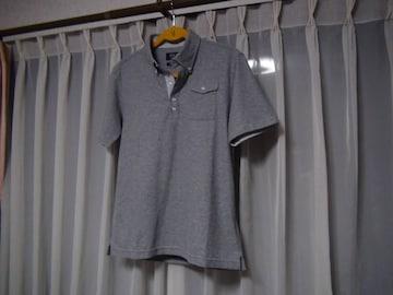 POLOのポロシャツ(M)グレー!。