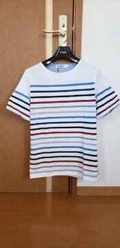 ¥3,850 メンズ・ビギ 半袖 ボーダー Tシャツ M