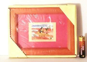 ミッキーマウス「マーシャル諸島切手 額装 (木製 赤)入り」