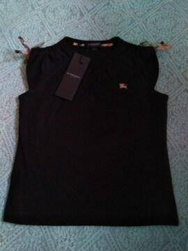 Burberry 女の子120Aサイズ フレンチスリーブ Tシャツ ブラック