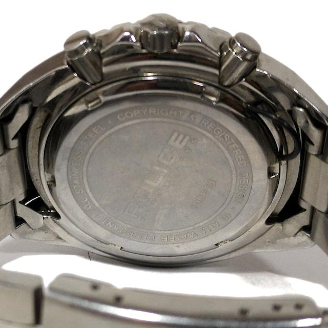 極レア 1スタ★POLICE ポリス【クロノ】ゴツいメンズ腕時計