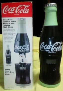 昭和 レトロ 玩具 アンティーク 瓶形掛時計 コカ・コーラ時計 箱付