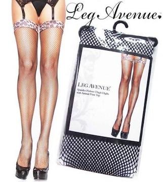 38a)LegAvenueレオパードトップサイハイタイツ衣装ダンス豹柄B系レッグアベニューセレブ