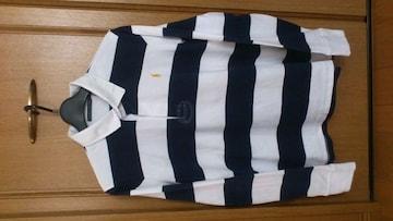 激安82%オフラルフローレン、長袖ポロシャツ、ラガーシャツ(美品、紺白、M)