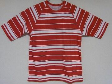新品ソフネットクールマックスハニカムボーダーTシャツ