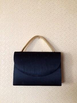 【即決】Black✖️ゴールド◆上品フォーマルバッグ