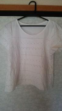 ジーナシス 透かし刺繍 カットソー