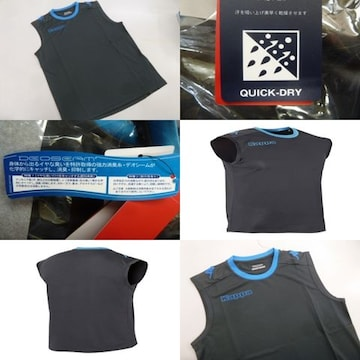 L 灰)カッパ KF712TN11 ノースリブシャツ スリーブレス袖なし薄手吸汗