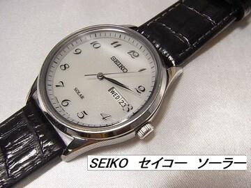 本物確実正規極美品セイコー ソーラー メンズ 腕時計�@