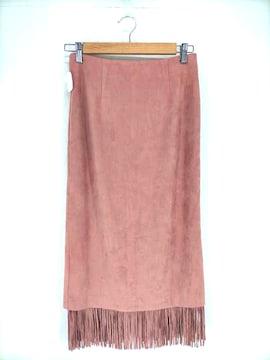 KBF(ケイビーエフ)スウェードライクフリンジスカートスカート