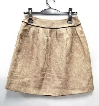 DHCディーエイチシースカート台形ミニスカートベージュレ